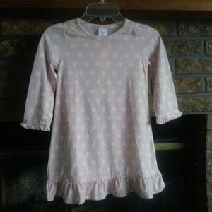 Gap pink white polka dot ruffled nightdres…